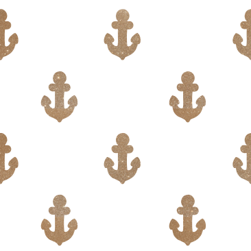 Gold anchors in white - pattern