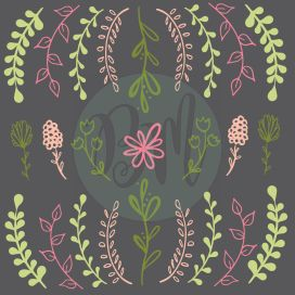 Leaves_and_Flower_brushes_color_grey