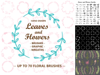 Leaves_and_Flower_brushes_Title