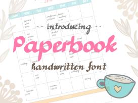 Paperbook_handwritten_font_intro_grey