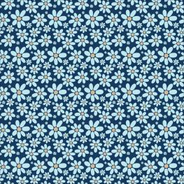 blue flowers, pattern