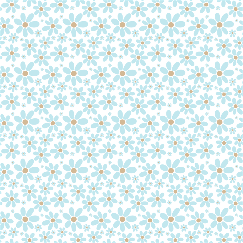 pattern, blue flowers pattern