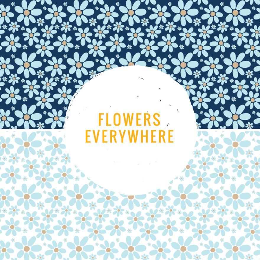 pattern, flowers