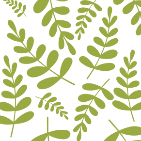 Light green leaves pattern