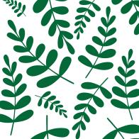 Greenary leaves pattern