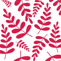 Pink leaves pattern