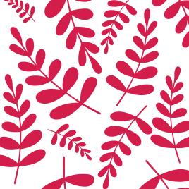 Pink leaves pattern