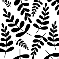 Black leaves pattern