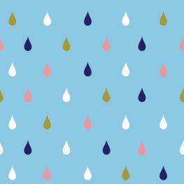 Raindrops colorful