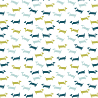 Dachshunds pattern - blue and green
