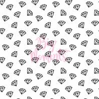 Black diamonds in white