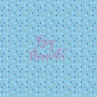Colorful raindrops in blue