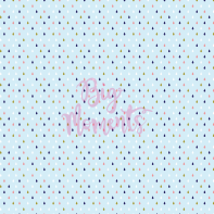 Colorful raindrops in light blue