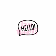 Hello phrase in mind bubble