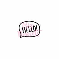 Hello phrase in mind bubble