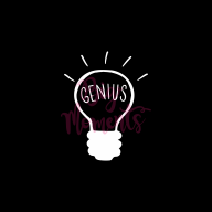 Lightbulb genius in black