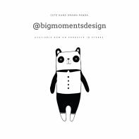 Black and white illustration of cute panda