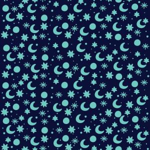 Blue space - stars moon sun