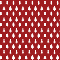 Christmas tree pattern in red
