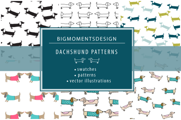 Dachshund patterns and illustrations 1