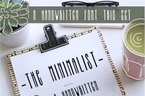 The Minimalist Font