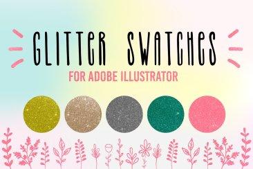 Glitter sparkling swatches for Adobe Illustrator