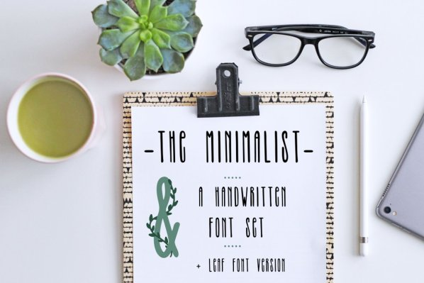 The Minimalist Handwritten Font Set